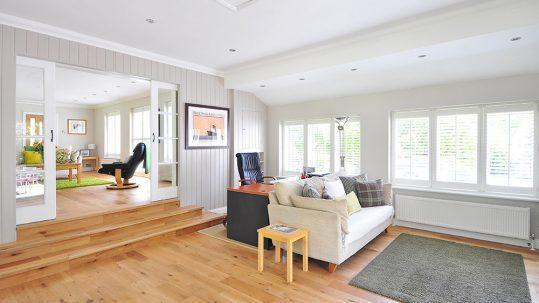 Modernisierungsfinanzierung - modernes Wohnzimmer